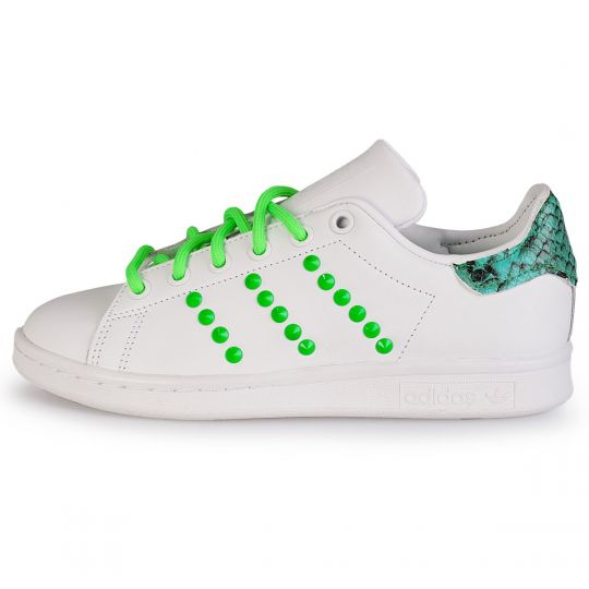 adidas stan smith green pytho neon