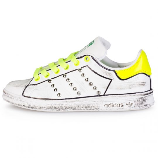 adidas stan smith yellow neon profile
