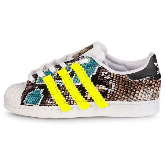 adidas superstar stripes neon sea pytho