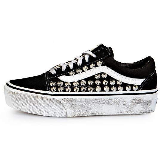 Vans Old Skool Platform Black  Full Studs