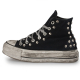 PLATFORM WASHED BLACK DIRTY SKULL HI