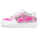 air force low fuxia neon glitter drip