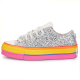 platform low silver pride sole