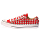 all star RED LOW cone skull