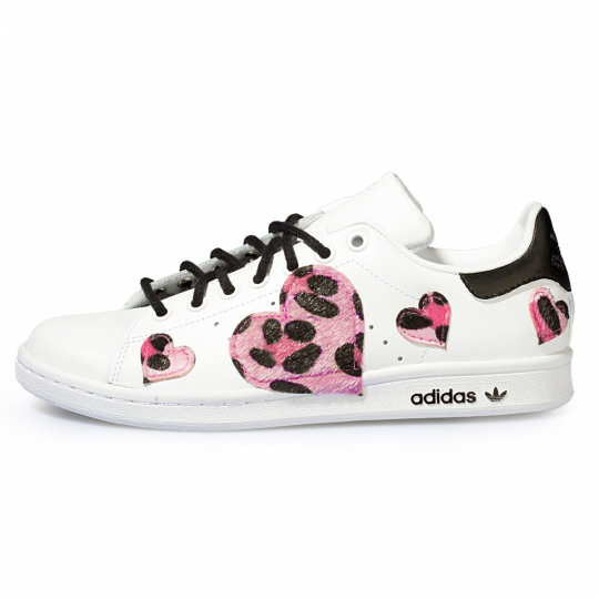 STAN SMITH LEO ROSE HEART PAINTED
