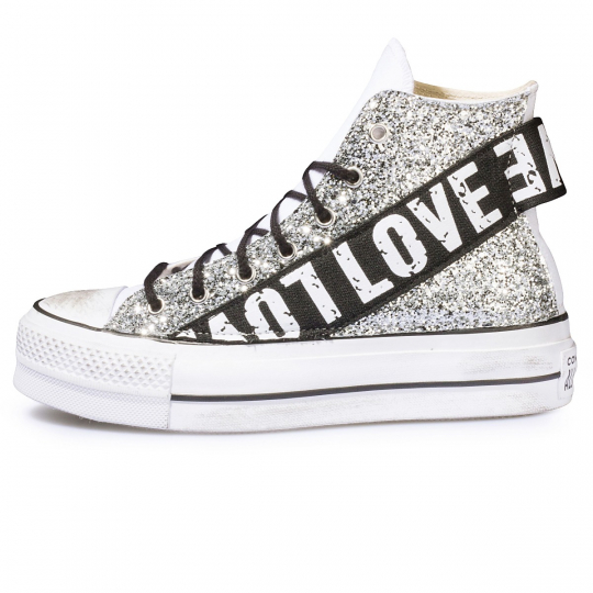 ALL STAR RUNAWAYS LOVE PLATFORM WHITE