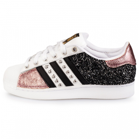adidas superstar IMLS dark rose glitter