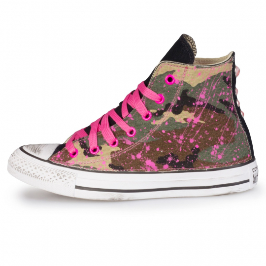 all star camo drip fuxia neon