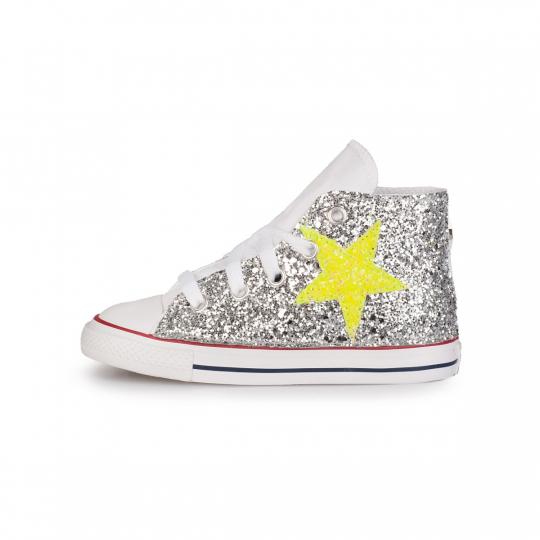 all star glitter neon stars 20-26