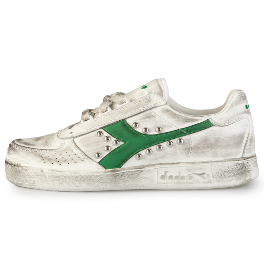 DIADORA ELITE GREEN DIRTY SWOOSH