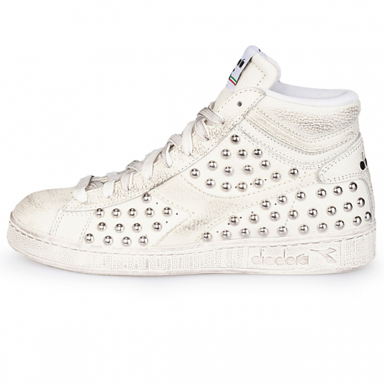 DIADORA GAME HI WHITE FULL STUDS