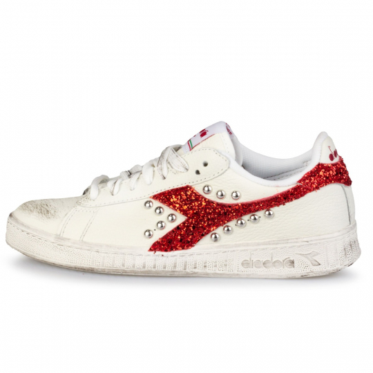 diadora game red glitter