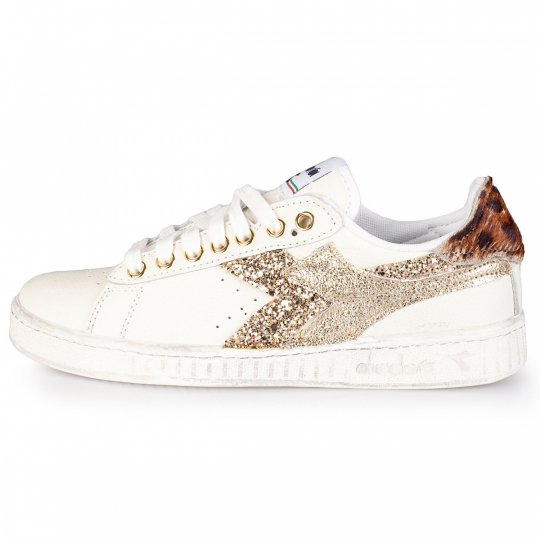 DIADORA GAME TRIPLE gold leo glitter