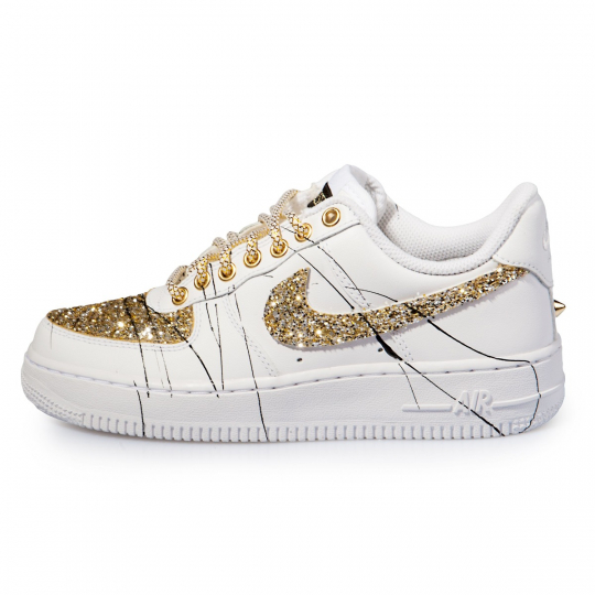 Air Force Glitter Low Ink Gold