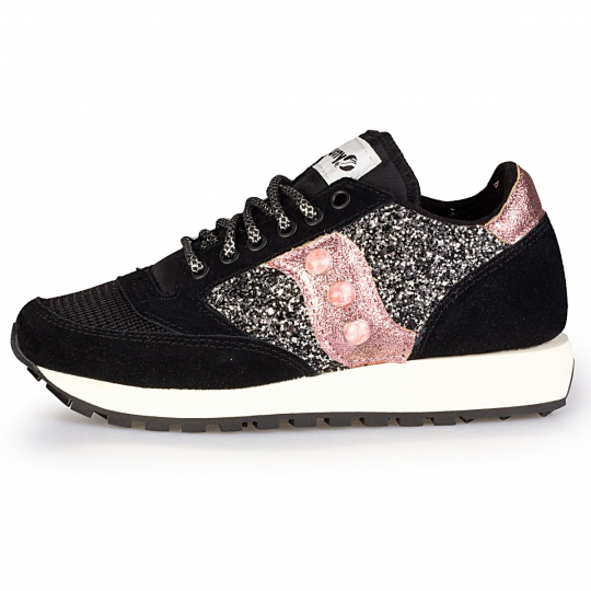 saucony black glitter dark rose