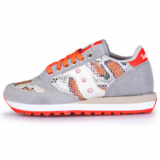 Saucony Jazz Grey Pytho Orange