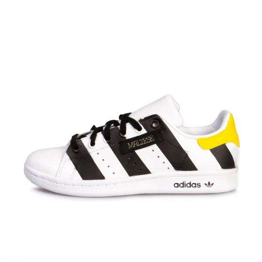 STAN SMITH BLACK PAINTED KID  ( 20-34 )