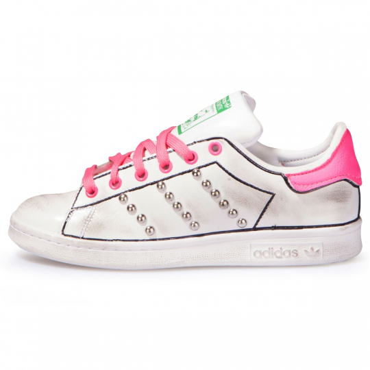 adidas stan smith fuxia neon profile