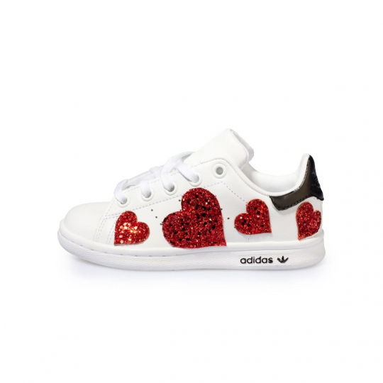 STAN SMITH HEART PAINTED KID ( 20-34 )