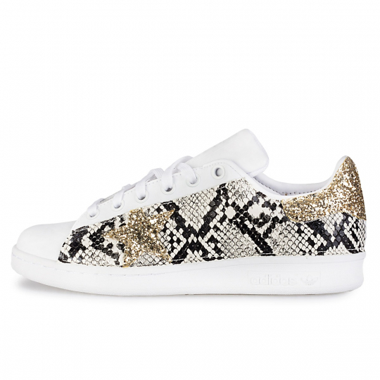 adidas STAN SMITH IMLS gold pytho glitter