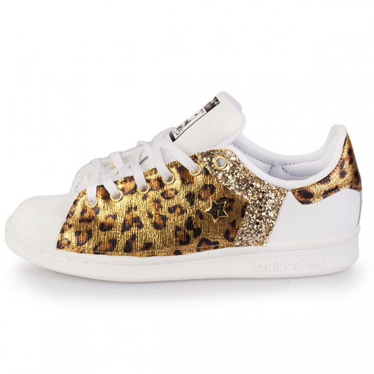 adidas stan smith one gold leo star