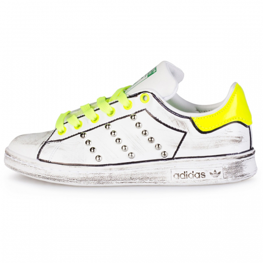 stan smith yellow neon profile