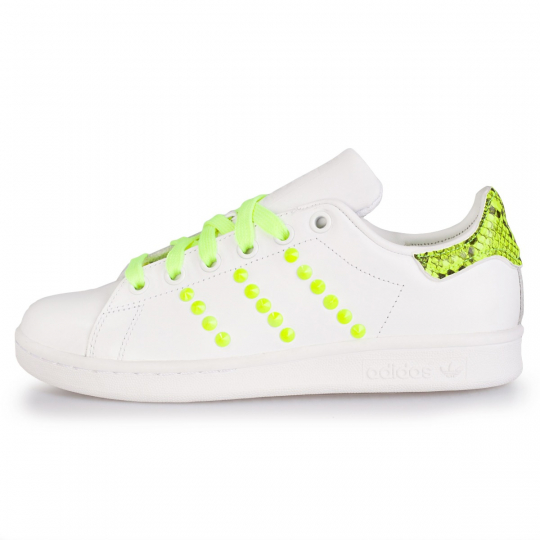 adidas stan smith yellow pytho neon