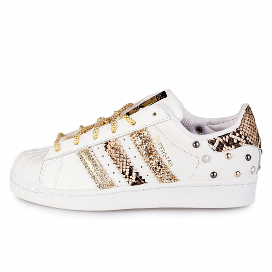 adidas superstar triple gold pytho glitter