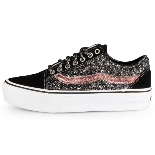 Vans Old Skool Platform Black  Runaways Dark Rose