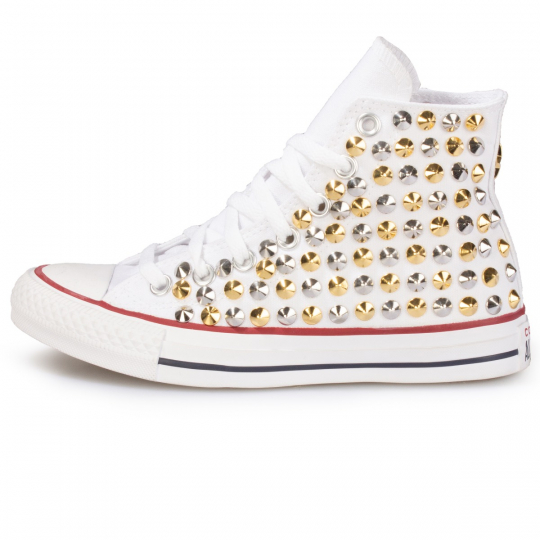 all star WHITE / SILVER-GOLD CONE ONE STAR