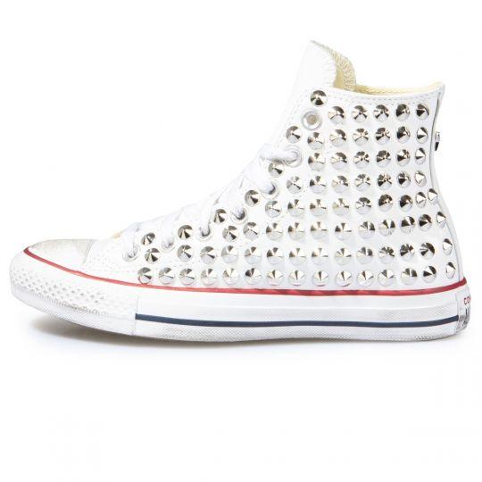 all star WHITE CONE PELLE