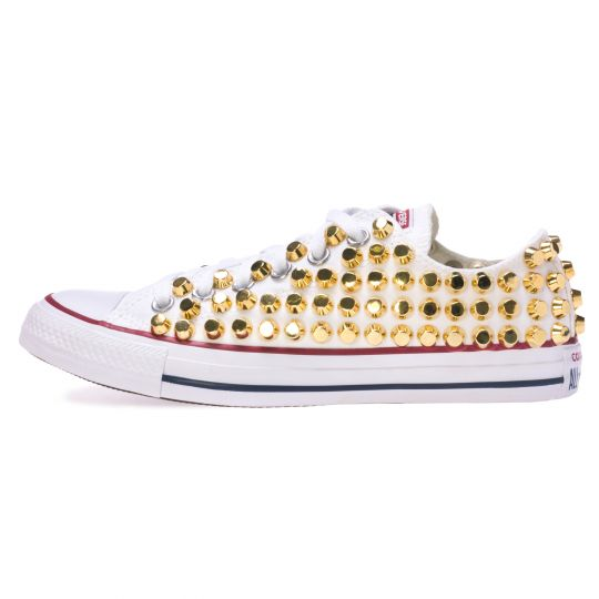 all star WHITE /GOLD LOW ROCK