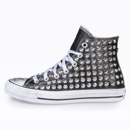 all star BLACK CONE PELLE / LEATHER