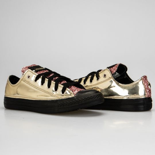 ALL STAR LOW VINYL GOLD PINK XX