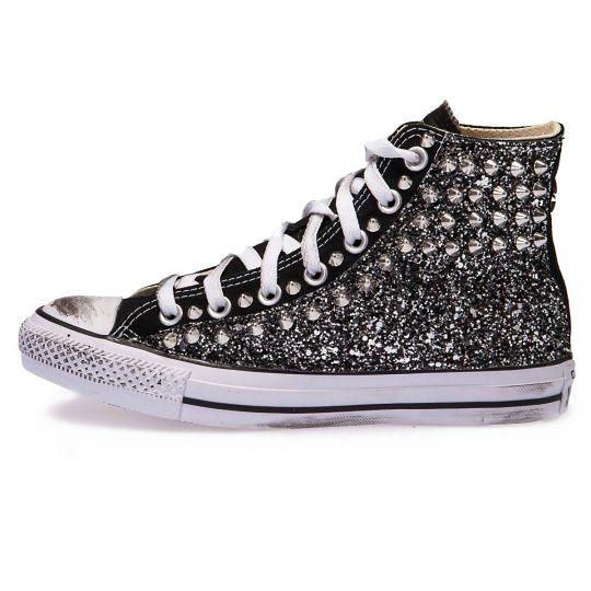 all star hi black glitter side