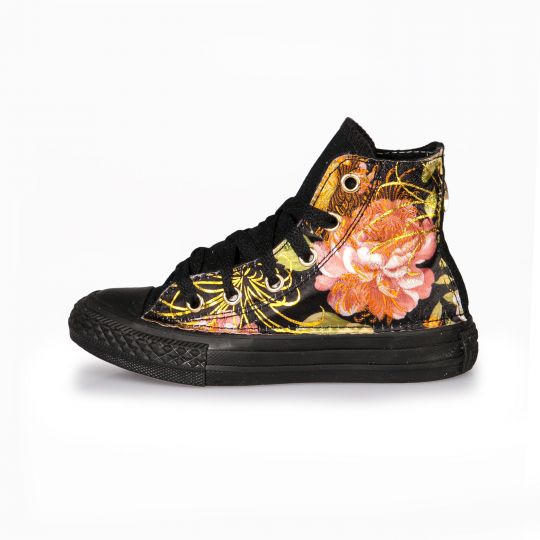 All star TOTAL BLACK FLOWER Kid