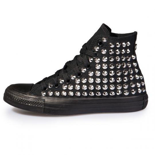 all star Monochrome Black Cone Hi