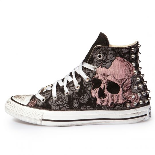 SKULL FLOWER BROCCATO HI