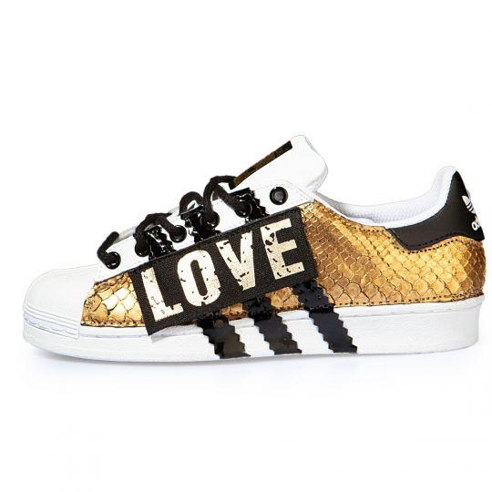 adidas SUPERSTAR snk GOLD LOVE xx
