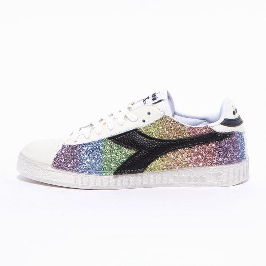 diadora game rainbow glitter