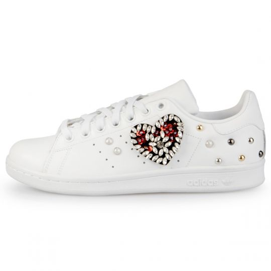 Adidas Stan Smith Mono White Heart Cabo