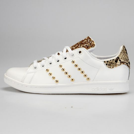 Adidas Stan Smith Tongue Gold Pytho