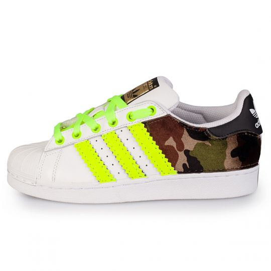 adidas superstar back camo neon