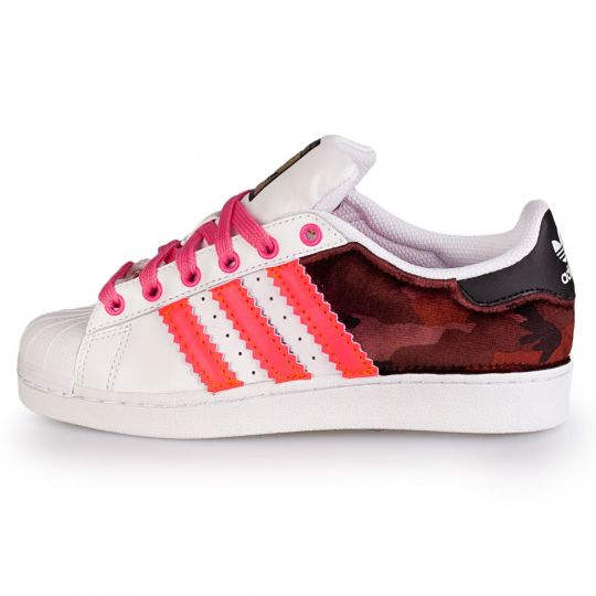 ADIDAS SUPERSTAR BACK RED CAMO NEON