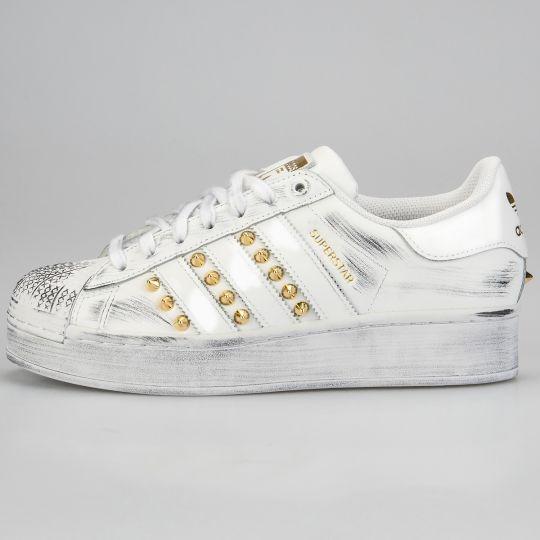 Adidas Superstar Mono Gold Platform