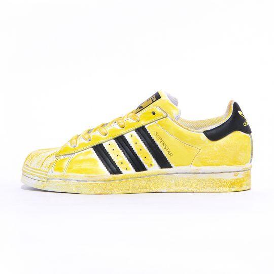 adidas superstar delavè yellow