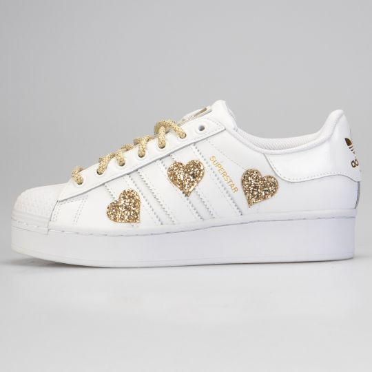 Adidas Superstar Gold Heart Glitter
