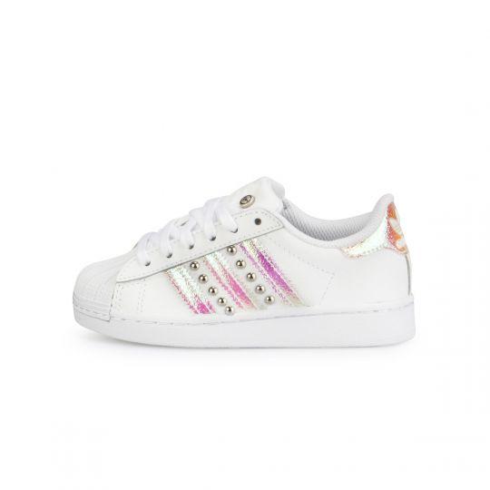 Adidas Superstar Iridescent Dirty Studs - 35