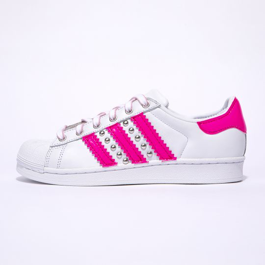 Adidas Superstar Neon Fuxia Stripes