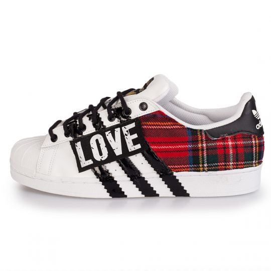 adidas superstar tartan love xx